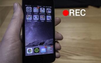 iOS 8 Screen Recording
